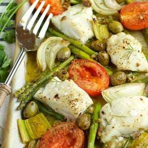 Sheet Pan Mediterranean Cod | Garden in the Kitchen