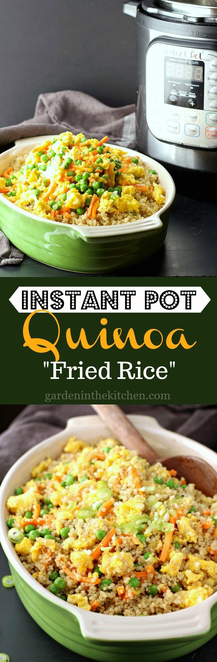 "A healthier take on the classic Vegetable Fried Rice, this Instant Pot Quinoa ""Fried Rice"" is just as delicious and will make you feel good too!"