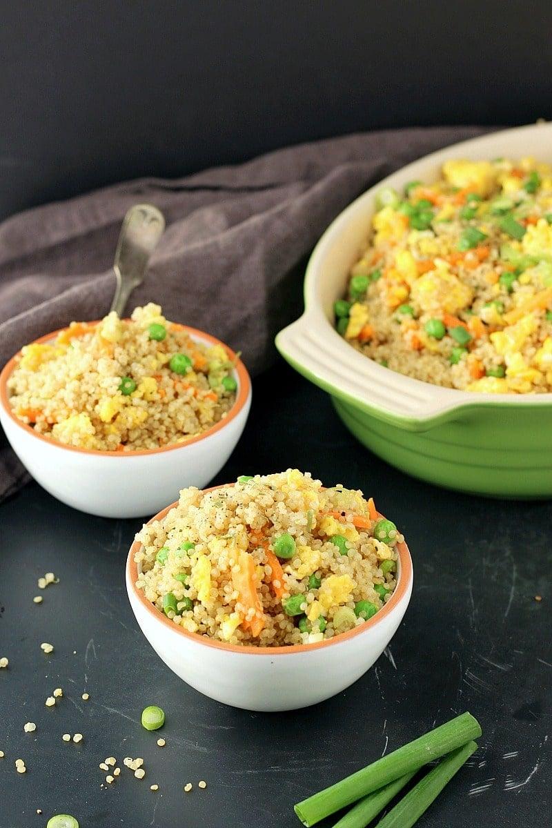 instant pot quinoa fried rice garden in the kitchen - Rice Kitchen