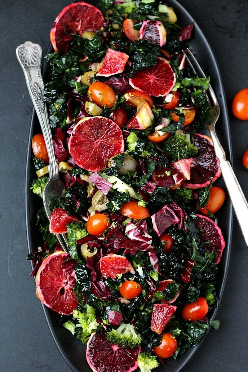 Winter Retreat Blood Orange Kale Salad | Garden in the Kitchen