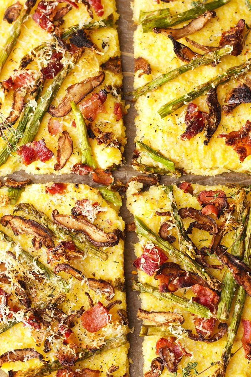 Polenta Crust Roasted Veggie Pizza | Garden in the Kitchen