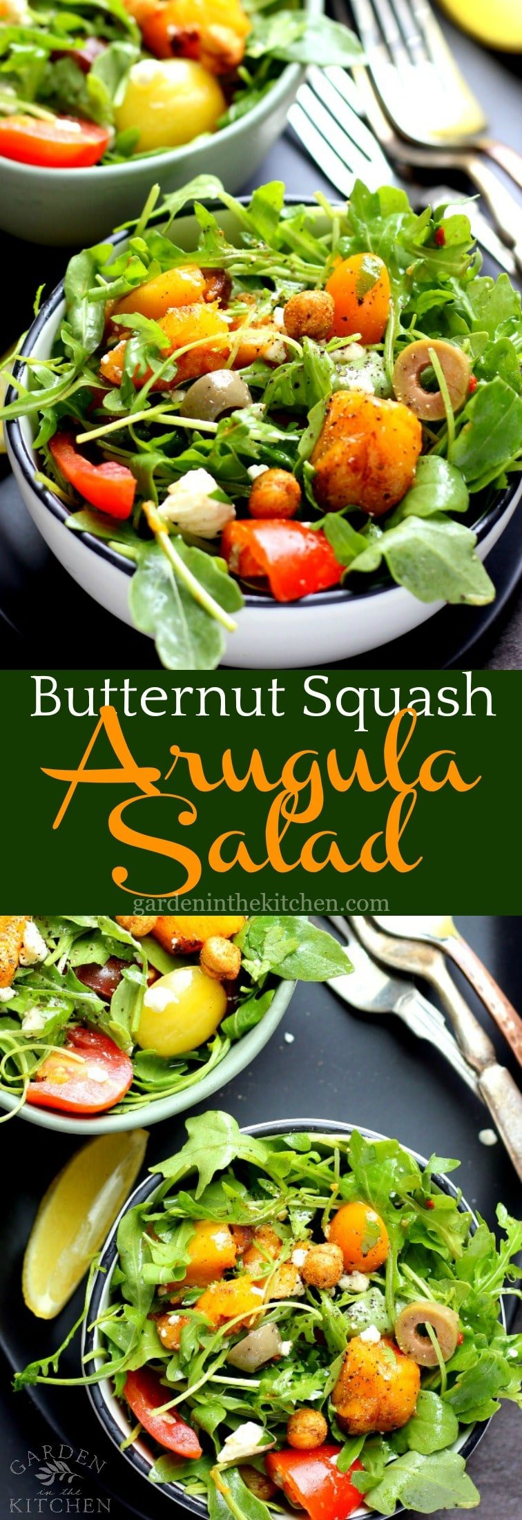 Roasted Butternut Squash Arugula Salad