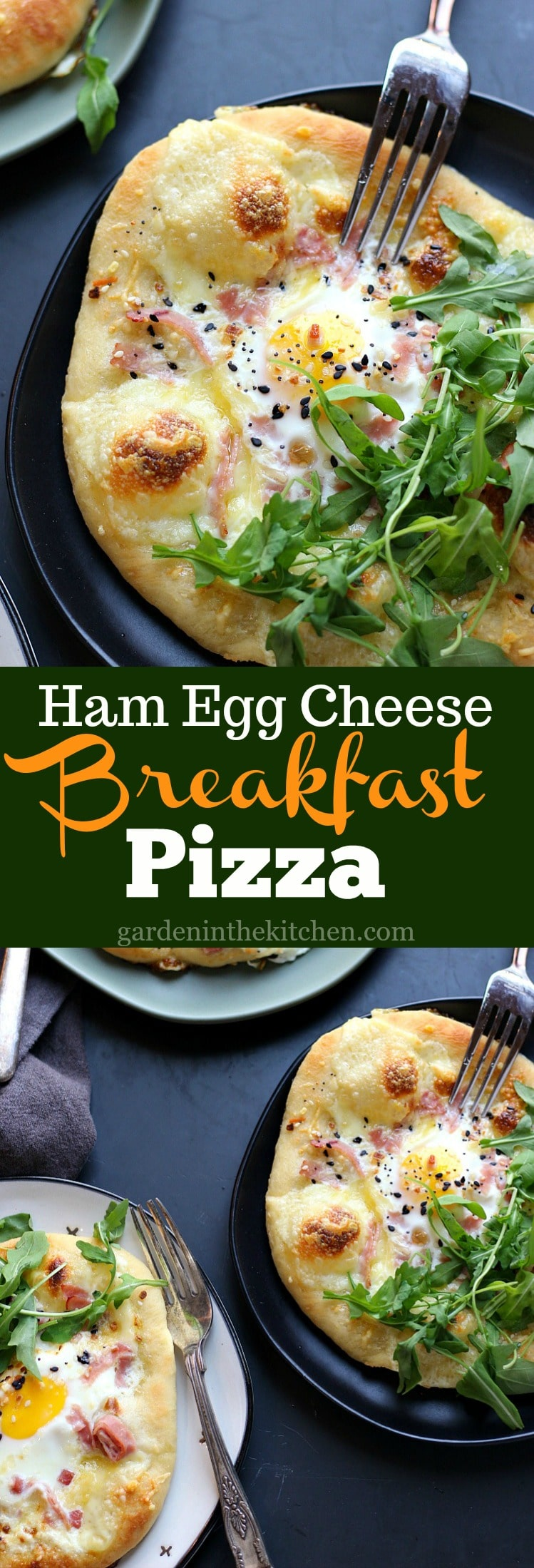 Ham Egg Cheese Breakfast Pizza