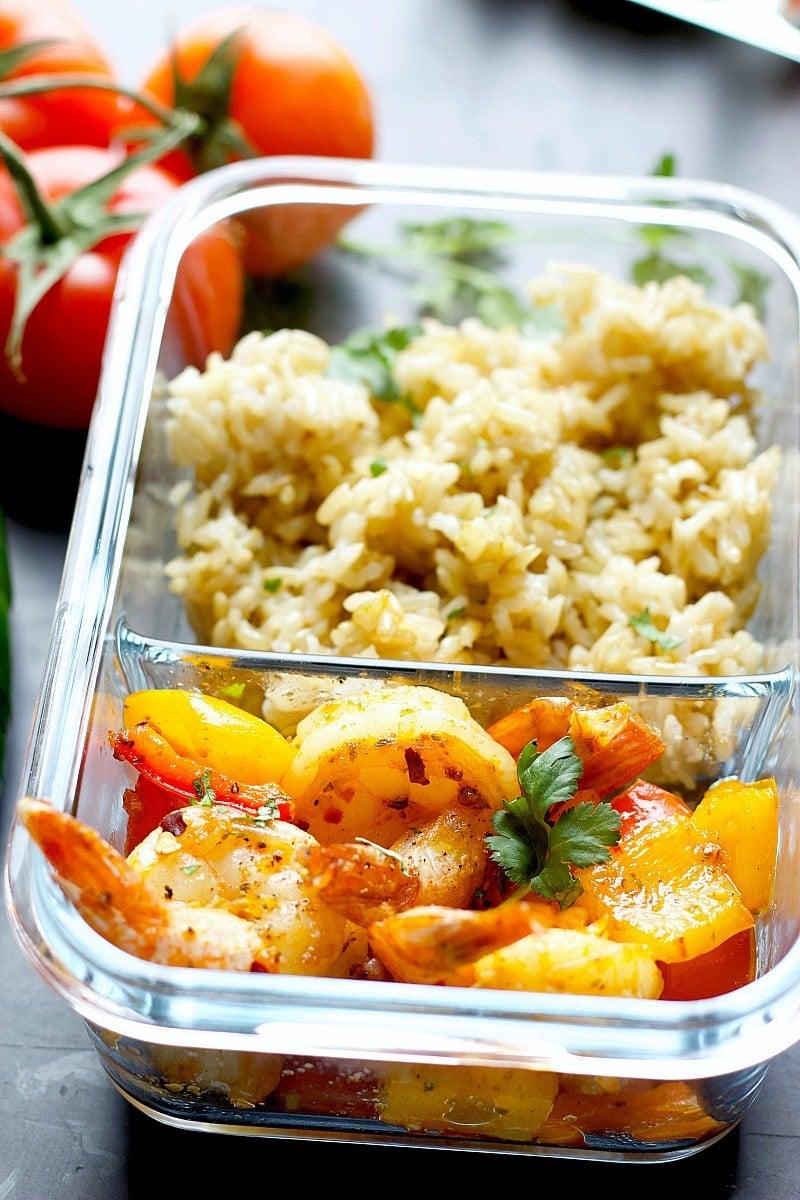 Instant Pot Shrimp Meal Prep Bowls!