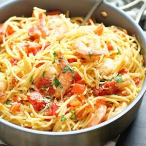 Shrimp Spaghetti Aglio & Olio