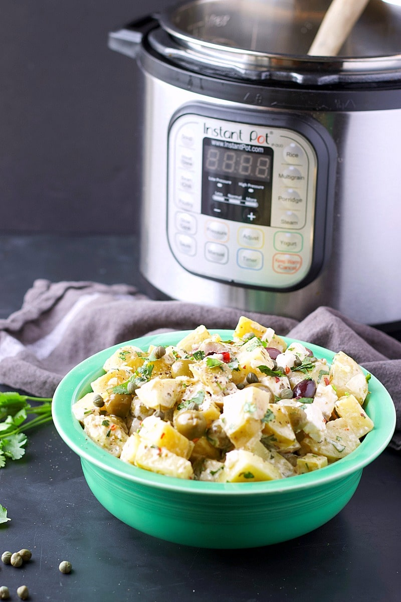 Instant Pot Mediterranean Potato Salad