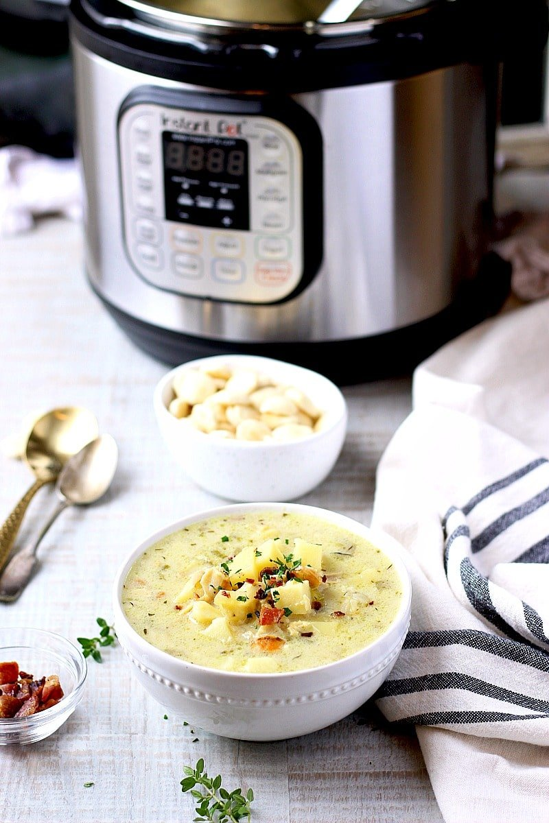 Light and Healthier New England Clam Chowder