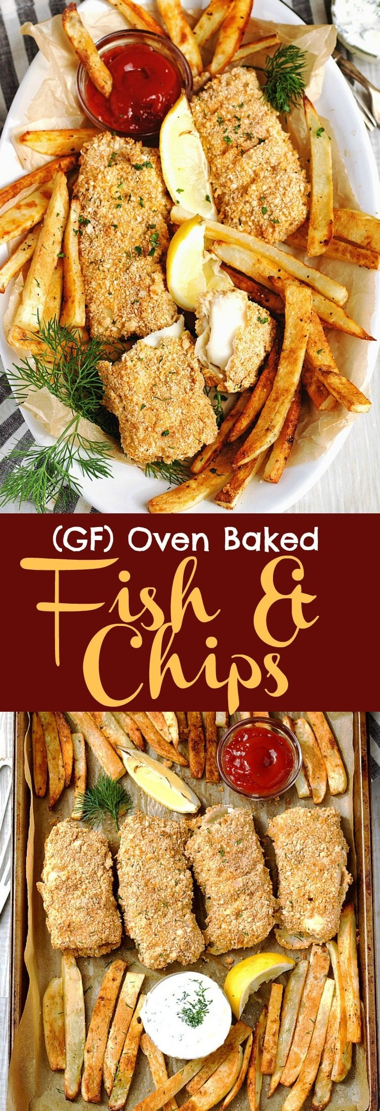 Gluten-Free Oven Baked Fish & Chips