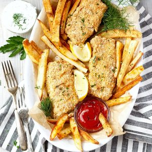 Baked Fish and Chips (Gluten-Free)