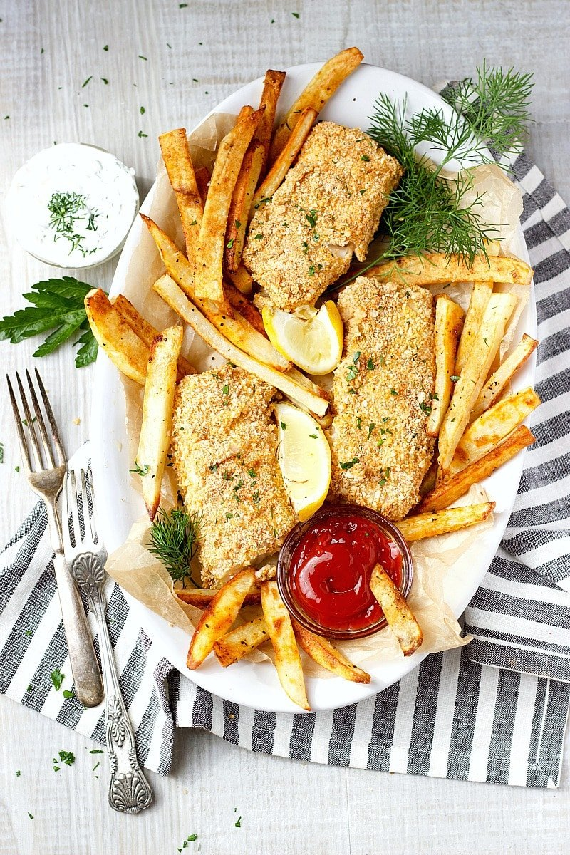 Oven Baked Fish and Chips (Gluten-Free)