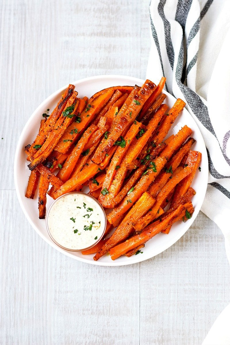 Oven Baked Carrot Fries Garden In The Kitchen