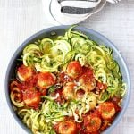 Chicken Meatballs Zucchini Noodles
