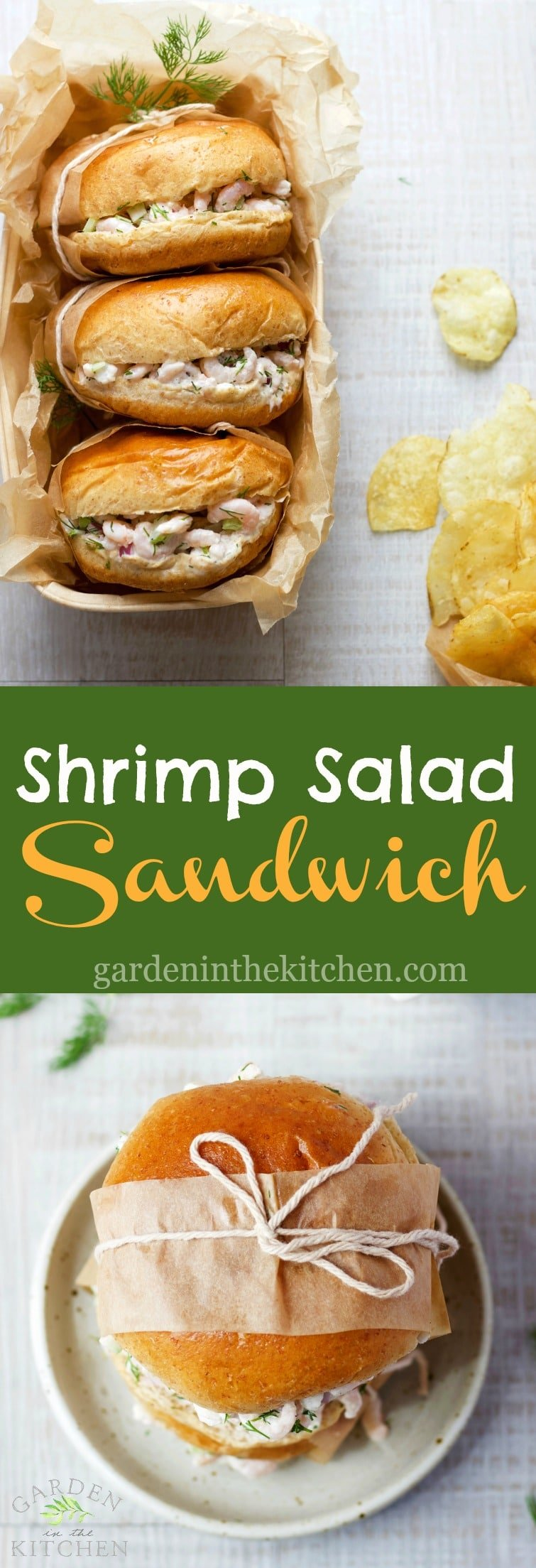 BEST Shrimp Salad Sandwich