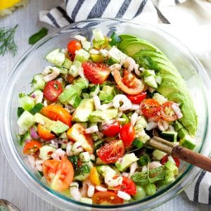 Shrimp Avocado Cucumber Salad