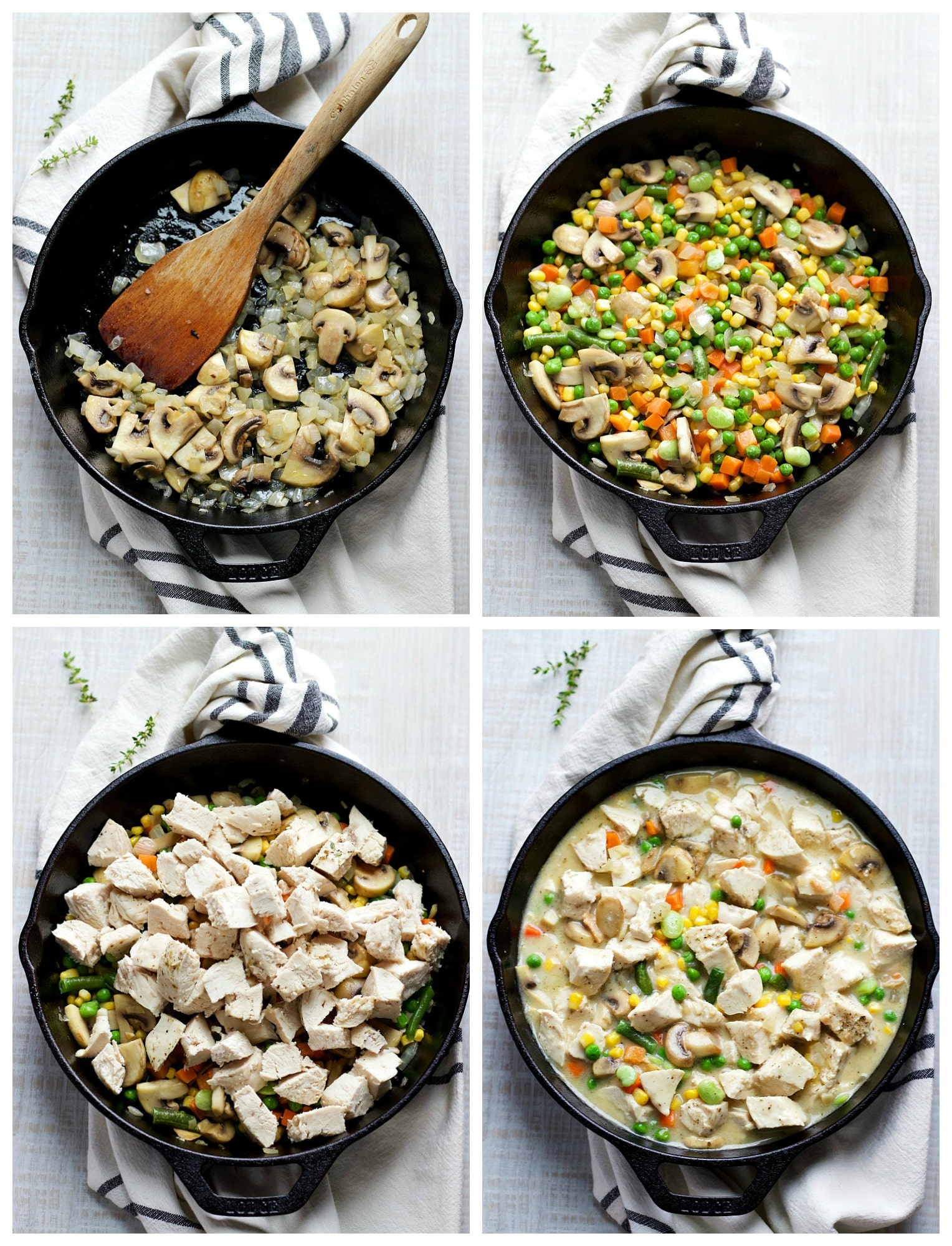 How To Make Skillet Chicken Pot Pie