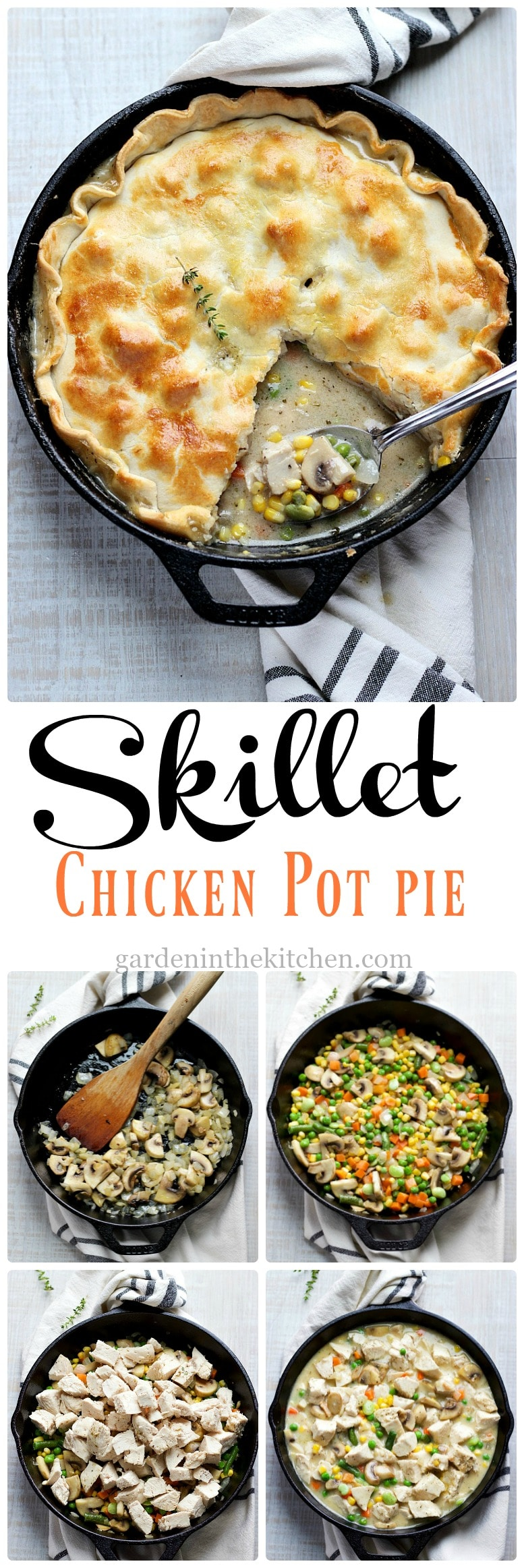 How To Make Skillet Chicken Pot Pie