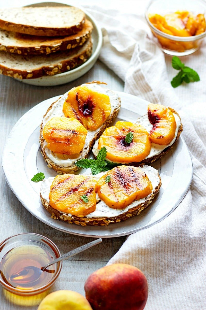 Grilled Peach Toas