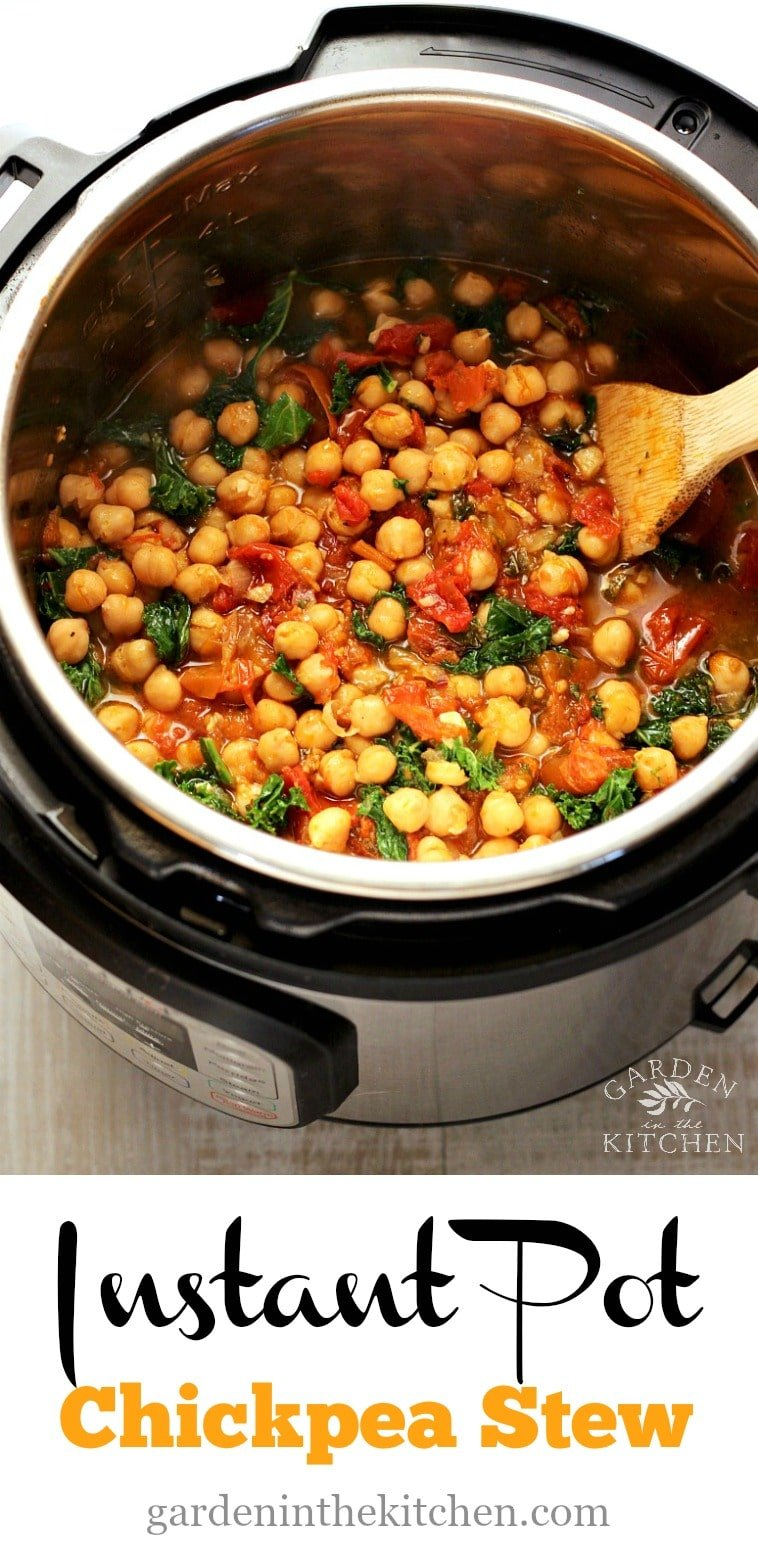 Healthy and Hearty Instant Pot Chickpea Stew! #instantpot #chickpeastew #instantpotchickpeas