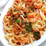 Sun-dried Tomato Shrimp Fettuccini