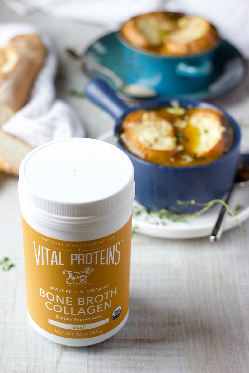 Instant Pot French Onion Soup with Beef Broth Collagen