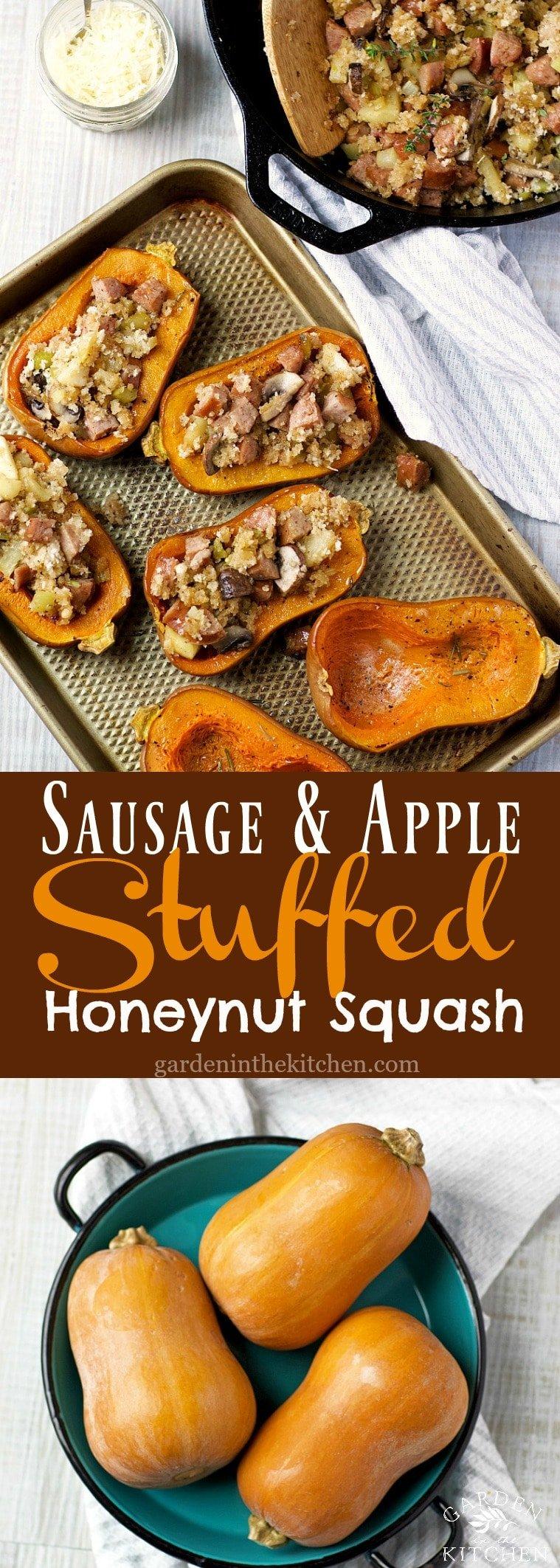 Sausage & Apple Stuffed Honeynut Squash