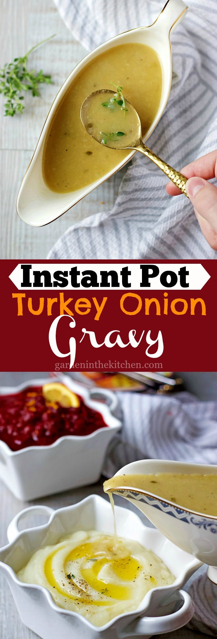 Instant Pot Turkey Onion Gravy