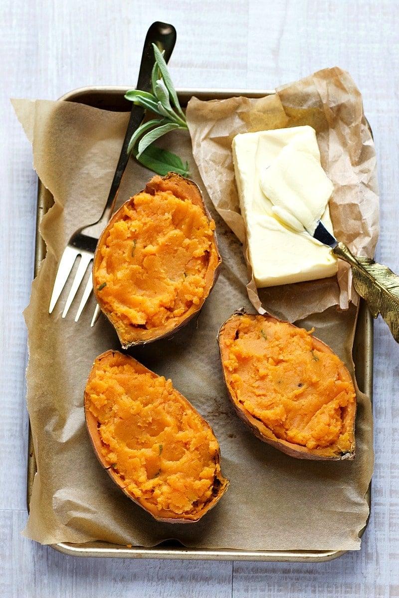 Brown Butter Sage Sweet Potato