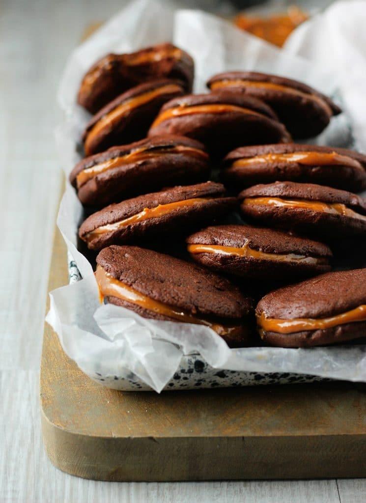 Dulce de Leche Chocolate Sandwich Cookies