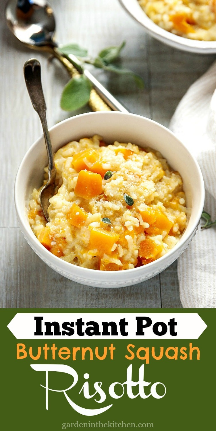 Instant Pot Butternut Squash Risotto with creamy @HPHood Light Eggnog! #HPHoodEats #HoodPartner #Wildfire451 #ad