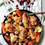 Skillet Cranberry Chicken & Veggies