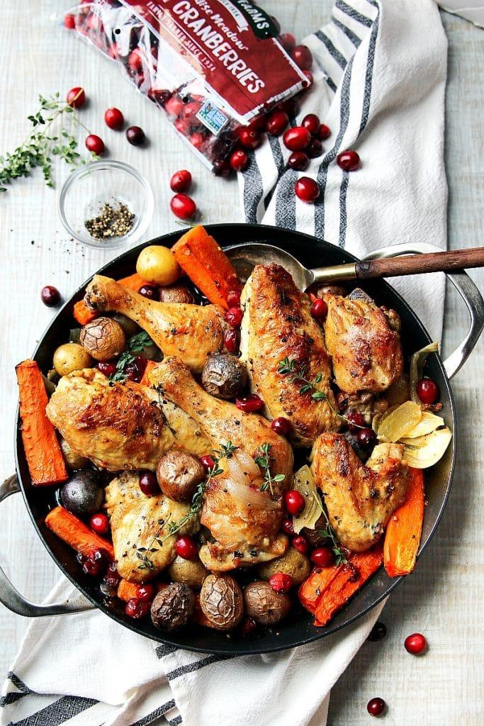Skillet Cranberry Chicken and Veggies
