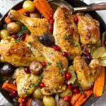 Skillet Cranberry Chicken and Veggies