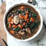 Black Bean Mushroom Carrot Soup