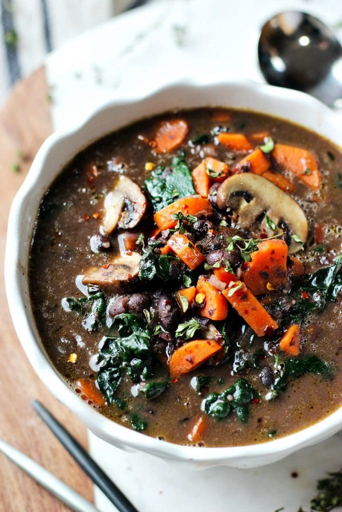 Bean Mushroom Carrot Soup