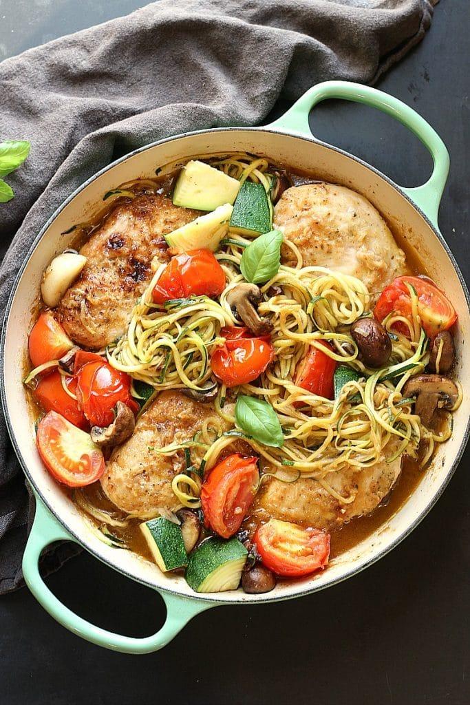 Low Carb Chicken Zucchini Skillet | Garden in the Kitchen