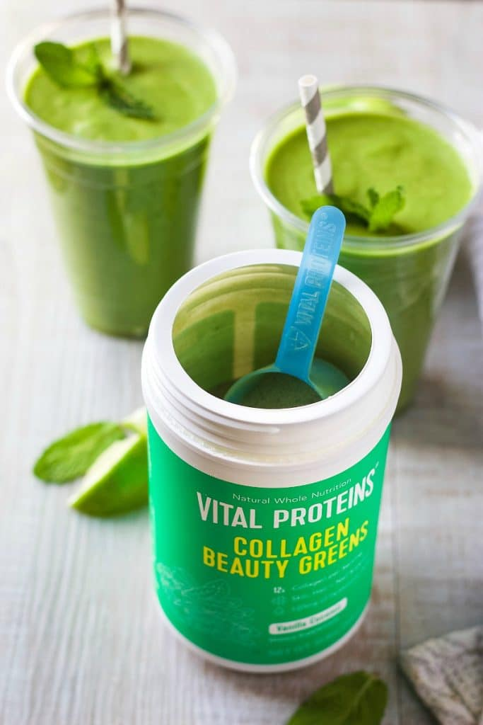 Green Machine Smoothie with Collagen Beauty Greens