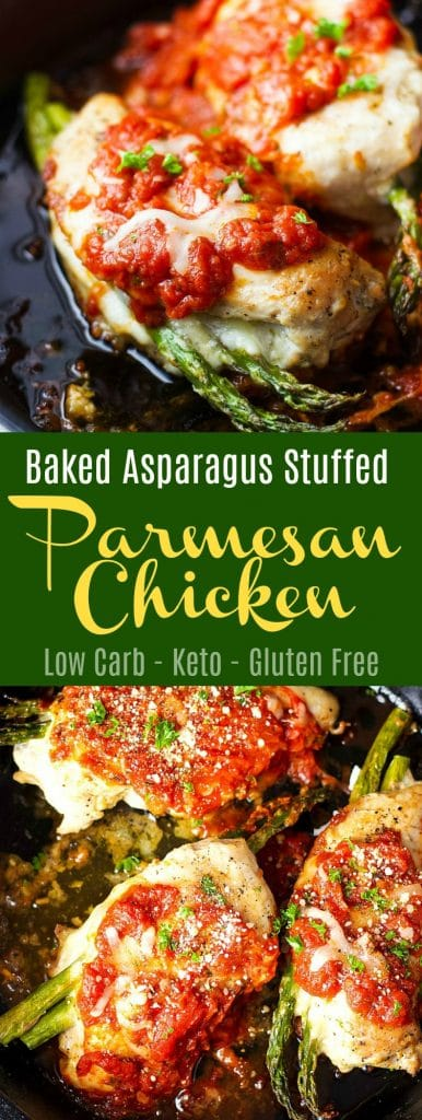 Baked Asparagus Stuffed Parmesan Chicken