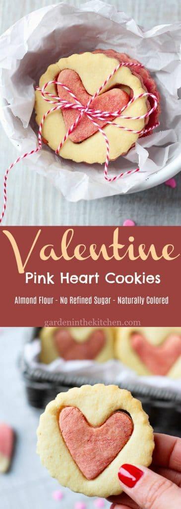 Valentine Pink Heart Cookies