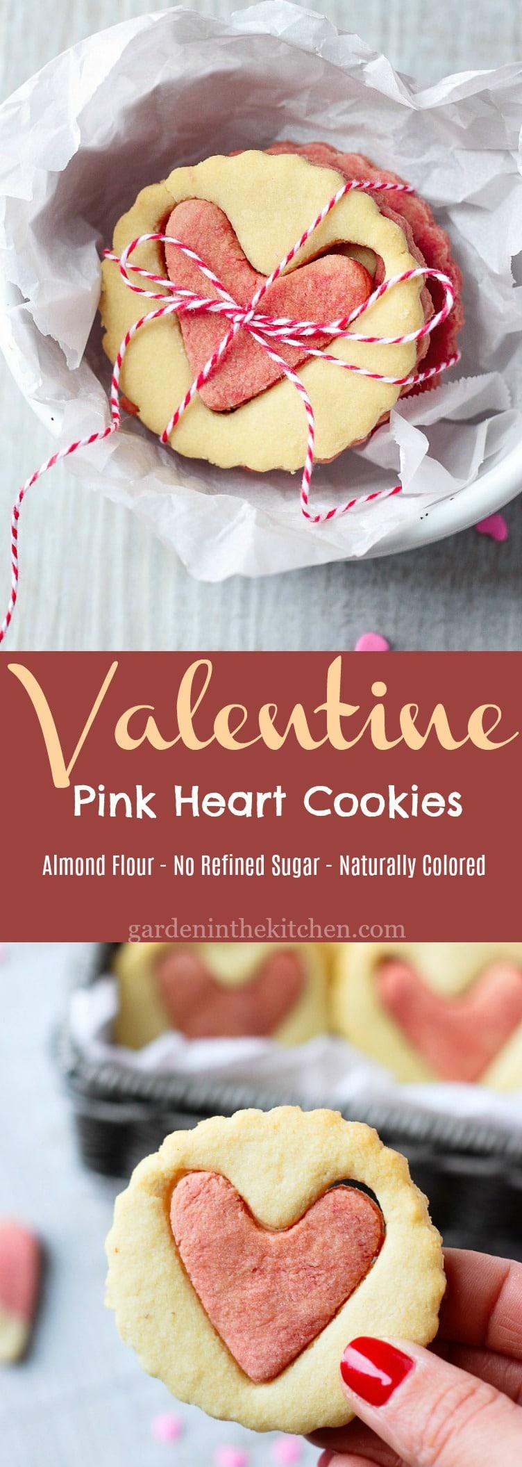 Heart Centered Valentine Pink Heart Cookies! #valentinesday #valentinesdaycookies #bemine #cookies