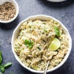 Instant Pot Cilantro Lime Brown Rice