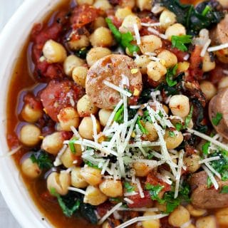 Instant Pot Sausage Chickpea Stew