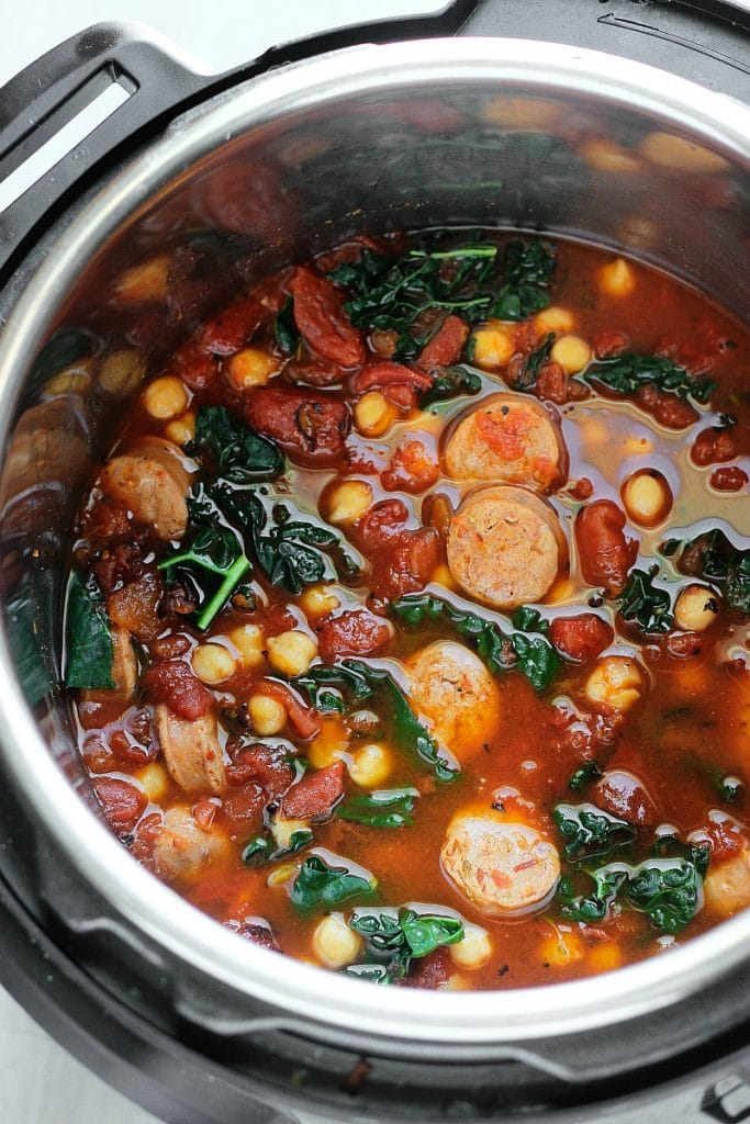 Sausage Chickpea Stew in the Instant Pot