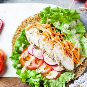 healthy chicken caesar wrap