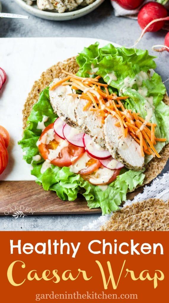 Healthy Chicken Caesar Wrap