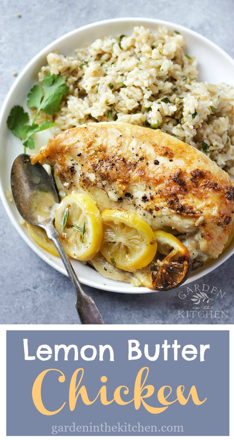This flavorful chicken is all about that golden buttery skin crispy around the edge, super moist on the inside with a hint of lemon flavor. The sea salt flakes will give every bite a crushing edge intensified by the woody tones of black pepper! #lemonbutterchicken #butterchicken #chicken #chickenandrice