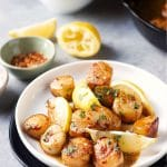 Lemon Butter Pan Seared Scallops