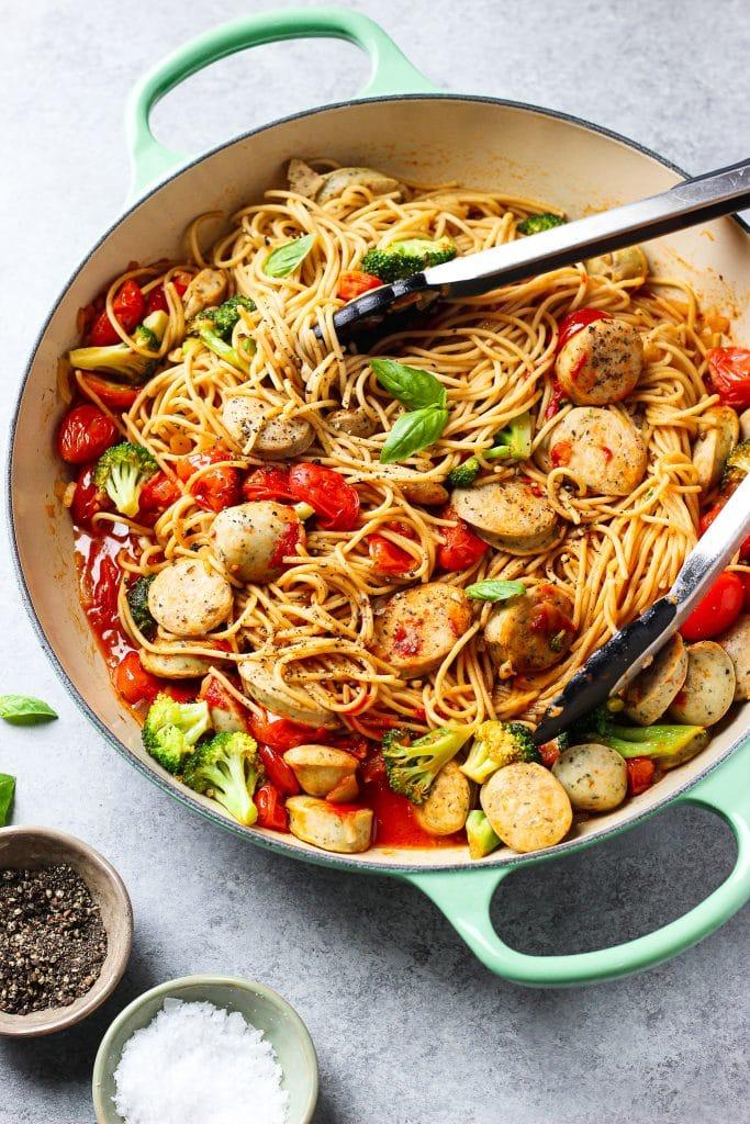 chicken sausage pasta