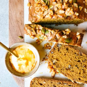 pumpking walnut bread
