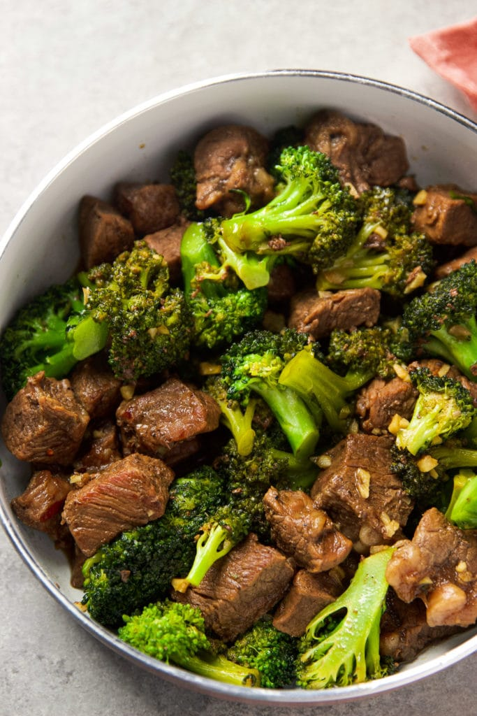 More Beef and Broccoli Stir Fry in a pan