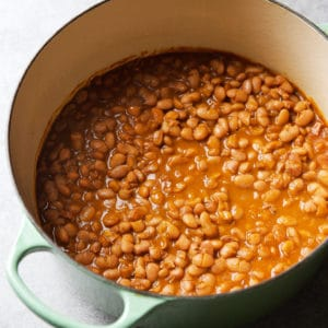 pinto beans on the stove